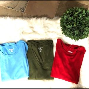 Old Navy Sz. L long-sleeve bundle (3).   💙💚❤️